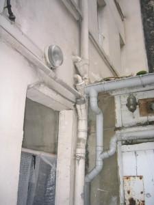 angle escalier C et évacuations