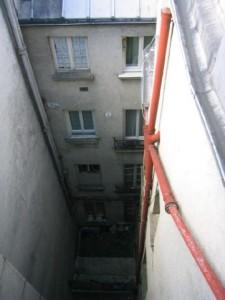 bas façade Est sur cour
