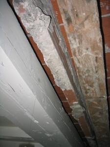 détail malfaçon plancher intérieur