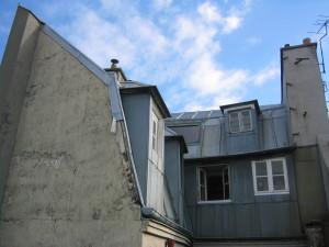 façade Ouest et pignon Ouest sur cour
