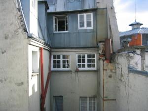 haut façade Ouest sur cour