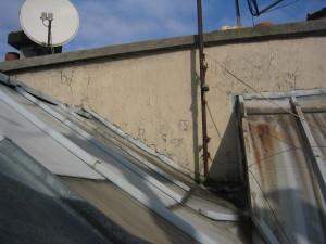 toit et souches angle Est et Sud sur cour